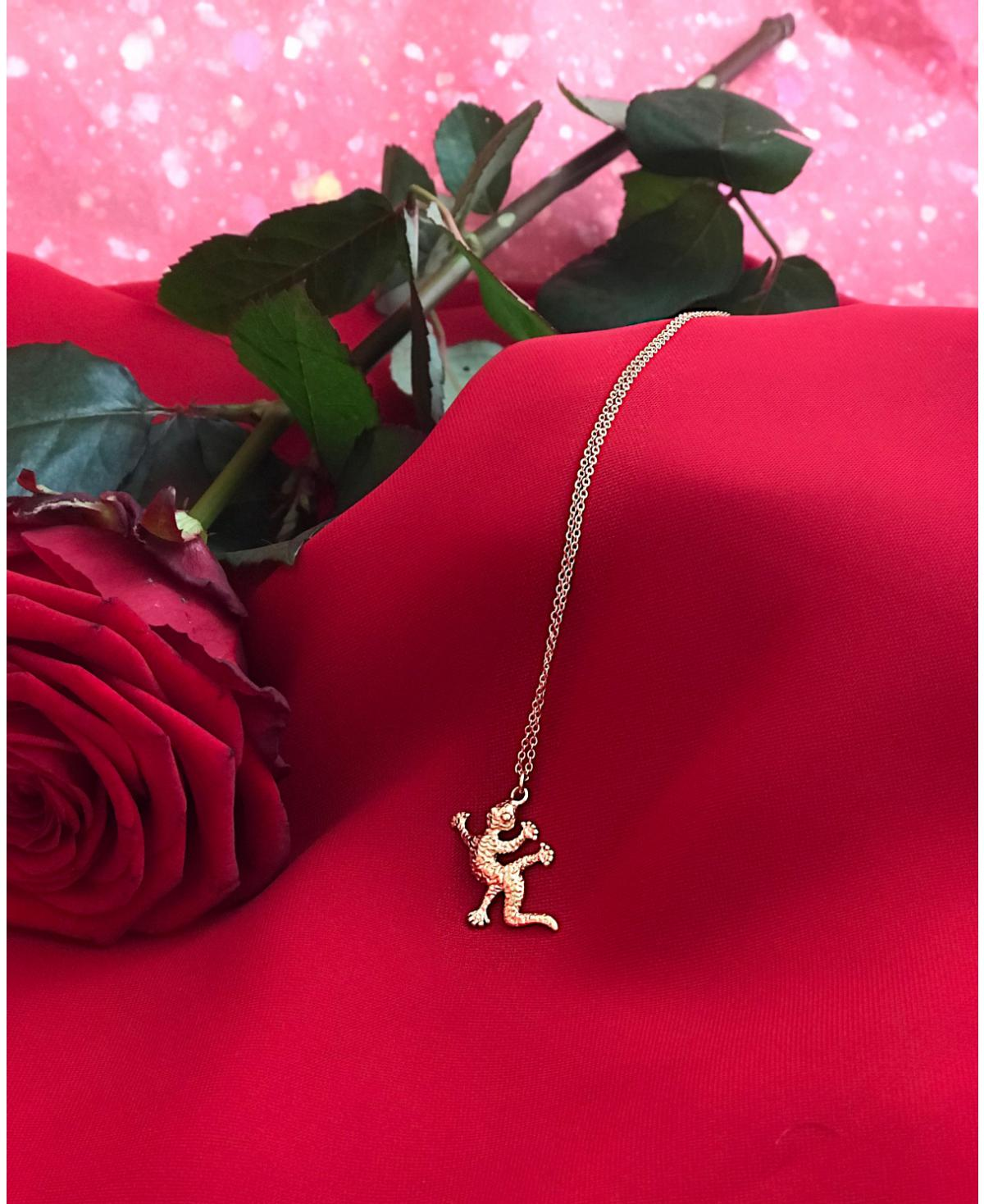 Salamander Necklace Gold
