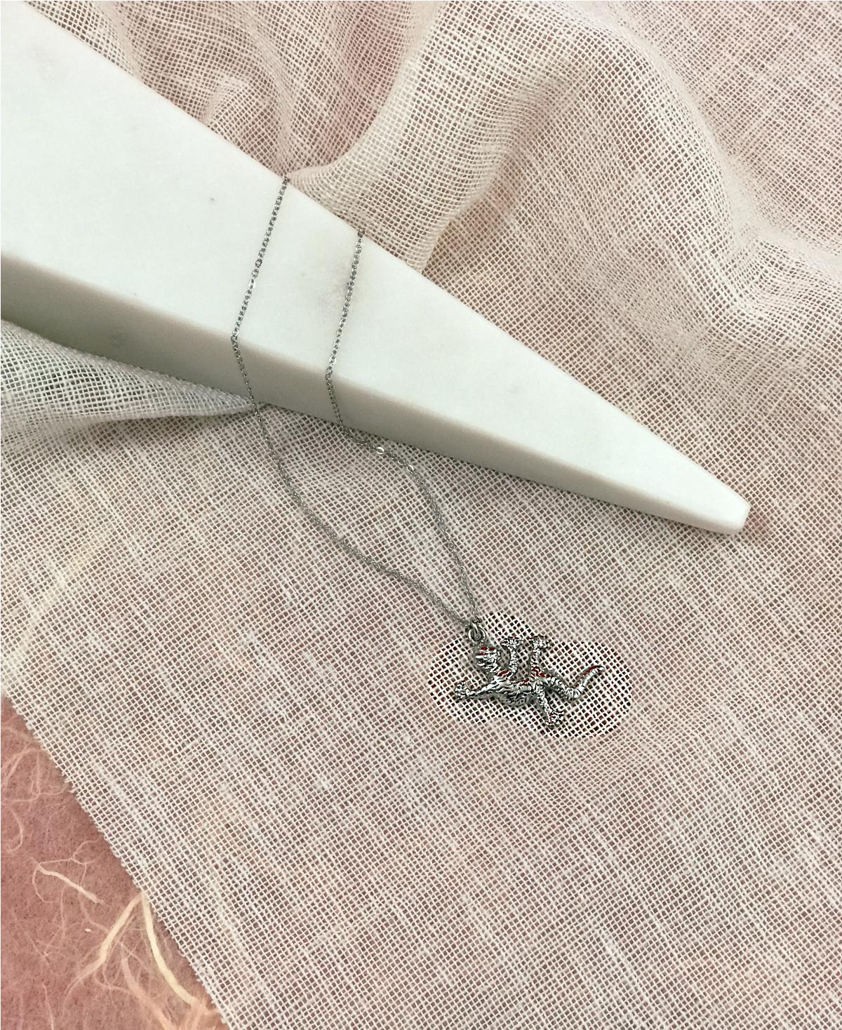Salamander Necklace Silver