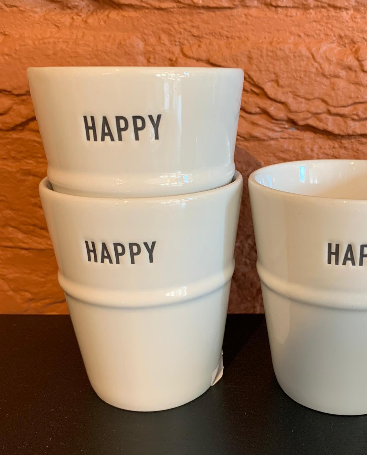 Beker Porselein Happy - Bastions Collection